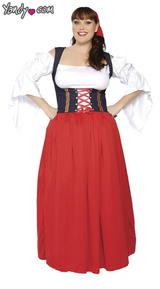 Plus Size Swiss Miss Costume, Plus Size Swiss Miss Wench Costume, Plus Size Swiss Miss Halloween Costume