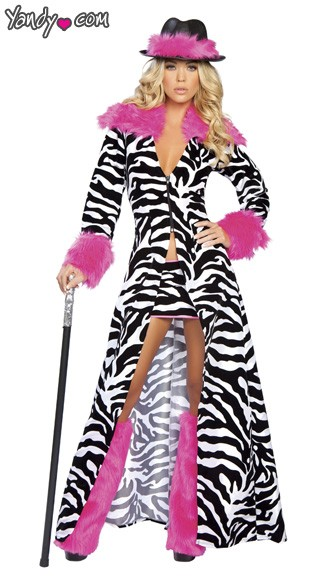 Leopard Pimp Canes - Fancy Dress (Pimp) |Pink Pimp Cane