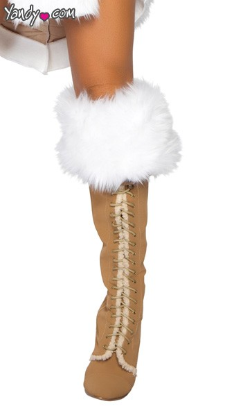 Fur Boot Cuffs, Boot Cuffs with Fur, Costume Boot Cuffs
