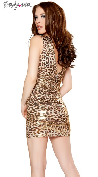 Sexy Animal Instinct Metallic Dress