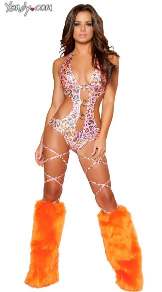 Metallic Pink Leopard One Piece