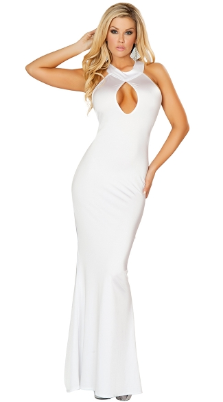 Classy Floor Length Cut Out Gown