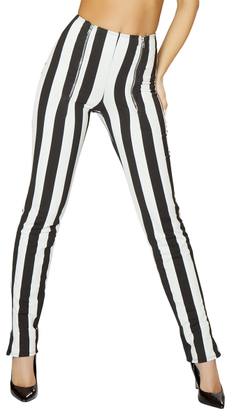 Double Zip High Waist Pants, High Waist Skinny Pants, Side Zip Pants