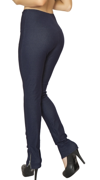 Double Zip High Waist Pants
