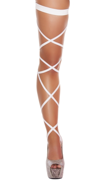 Solid Leg Strap with Attached Garter