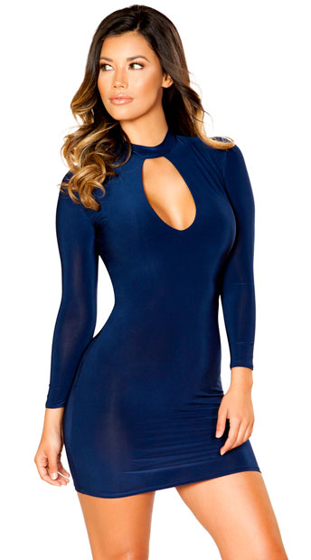 Classic Navy Mini Dress, blue mini dress - Yandy.com