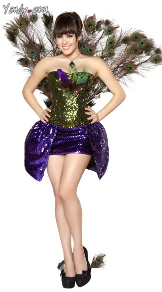 Sexy  Peacock Costume, Peacock Tail Costume, Sexy Peacock Costume, Peacock Costume for Women