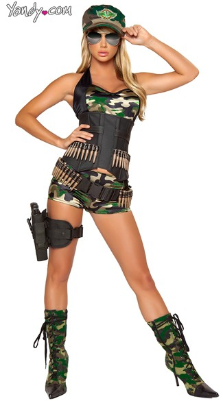 Army Babe Costume, Sexy Army Costume, Sexy Army Girl Costumes, Female Army Costume