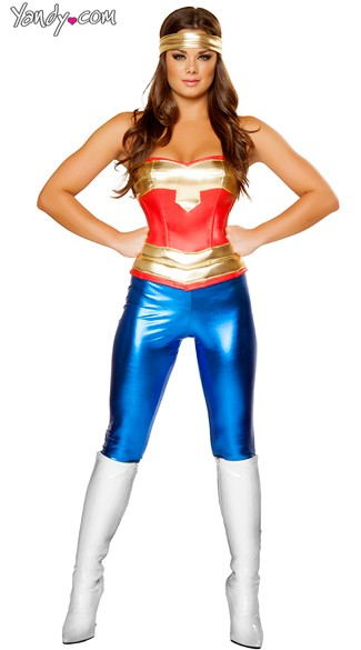 Comic Cutie Costume, Sexy Comic Book Character Costume, Sexy Comic Costume