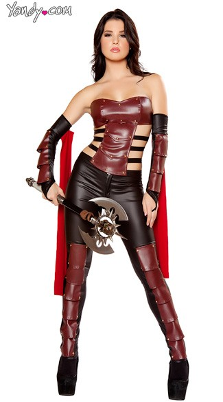 Sexy Warrior Costume, Deluxe Warrior Costume, Adult Warrior Costume