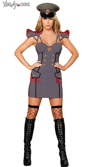 Sexy General Costume, Female General Costume, Adult General Halloween Costume