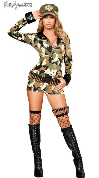 Sexy Soldier Costume, Female Soldier Costume, Womens Soldier Costume