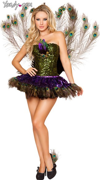 Deluxe Tempting Peacock Costume