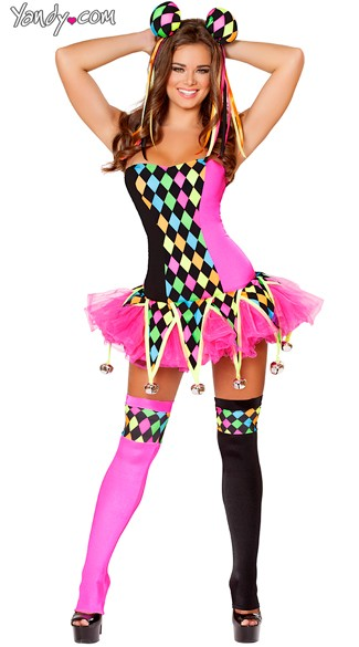 Sexy Court Jester Costume, Lusty Laughter Costume