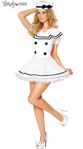 Sexy White Sailor Costume, White Sailor Costume, Sexy Sailor Maiden Costume