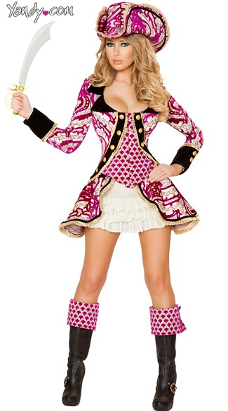 Pink Pirate Captain Costume