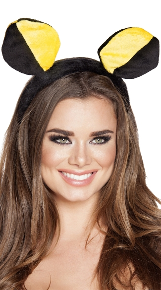 Yellow and Black Bumble Bee Head Piece