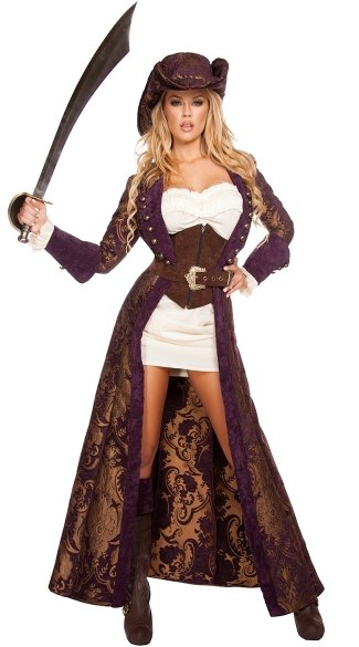 Decadent Pirate Diva Costume, Sexy Pirate Costume, Sexy Pirate Wench Costume