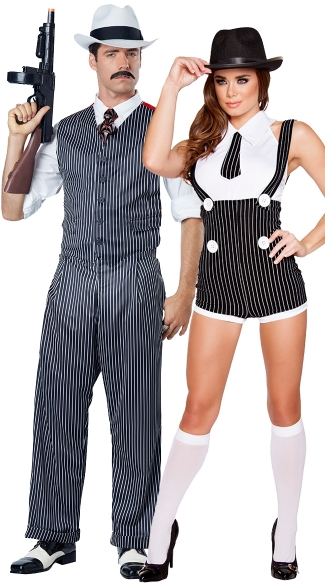 Mobster Masters Couples Costume, Seductive Mobster Mama Costume, Sexy Mobster Costume, Sexy Gangster Costume, Men\'s Mobster Costume, Men\'s Gangster Costume, Men\'s Pinstripe Costume