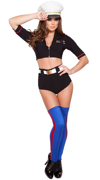 Navy Yard Mistress Costume, Sexy Sailor Costume, Sexy Military Costume