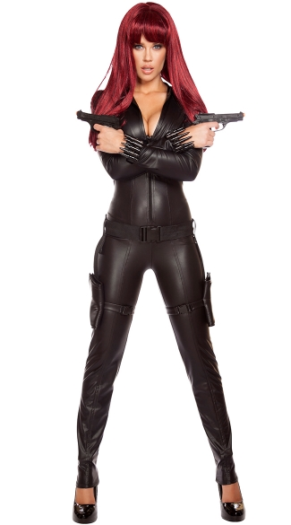 Alluring Assassin Costume, Sexy Assassin Costume, Catsuit Costume