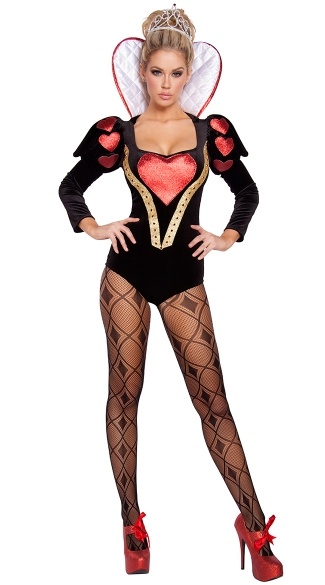 Sexy Heartless Mistress Costume, Queen of Hearts Costume, Alice in Wonderland Costume