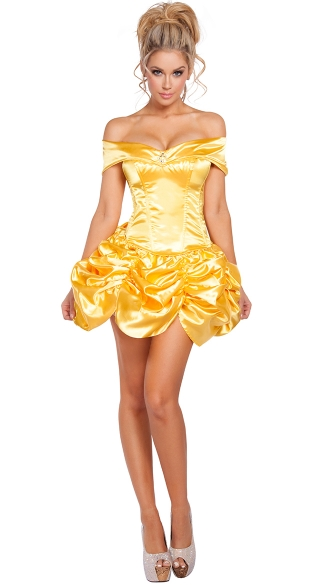 Foxy Fairytale Cutie Costume, Sexy Yellow Princess Costume