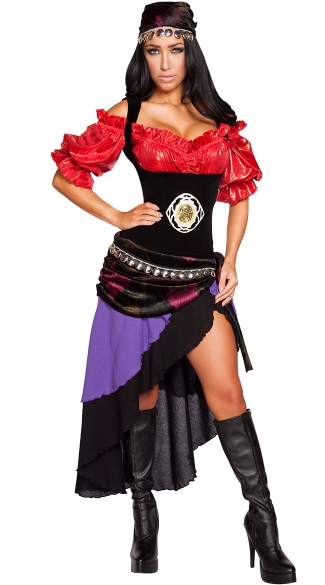 Gorgeous Gypsy Costume, Sexy Gypsy Costume, Sexy Fortune Teller Costume
