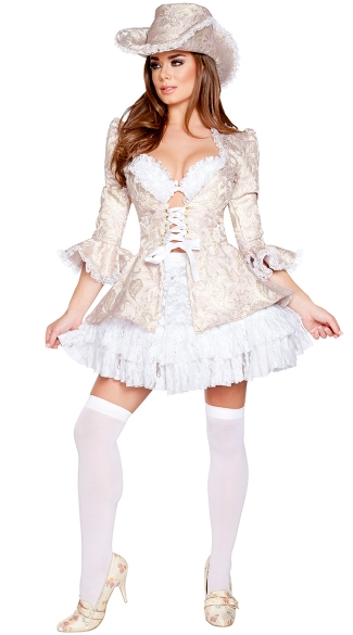 Deluxe Marie Antoinette Costume, Sexy Queen Costume, Sexy French Costume