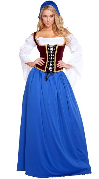 Beautiful Bar Maiden Costume, Beer Girl Costume, Sexy German Costume