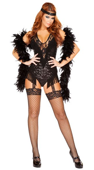 Sexy Party Flapper Costume Sexy Flapper Costume Black