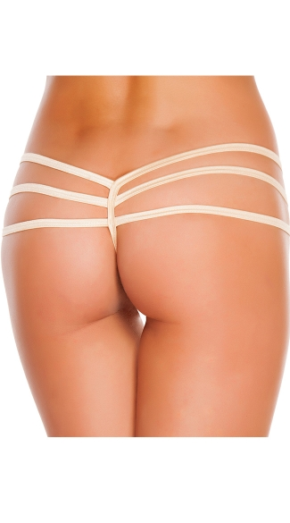 Triple Strapped String Back Thong