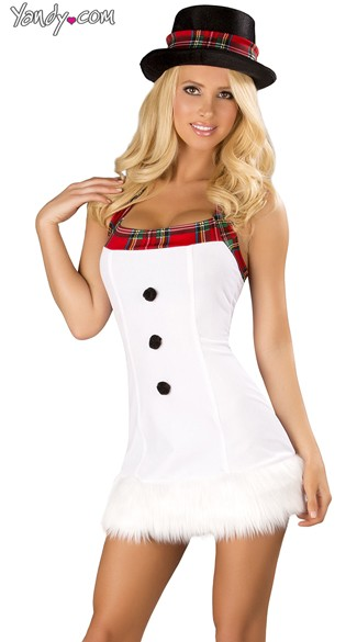 snow princess dress and hat christmas snowman costume