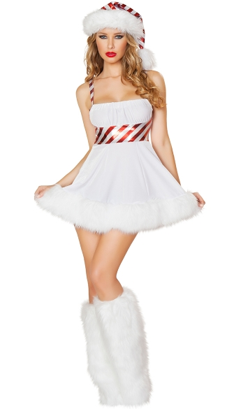 Candy Cane Cutie Costume, Striped Christmas Dress