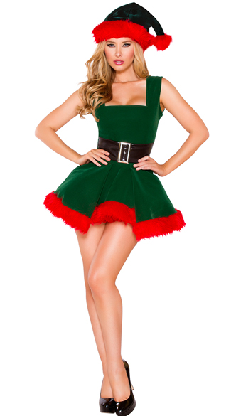 Head Elf Hottie Costume