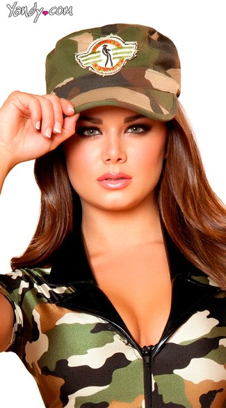 Army Costume Hat, Army Hat, Camouflage Hat, Camo Hat