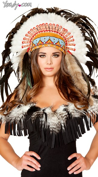 Native American Headdress, Feather Headdress, Deluxe Head Dress