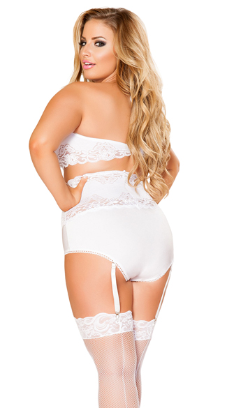 Plus Size Lacy Bra and Waist Cincher Set