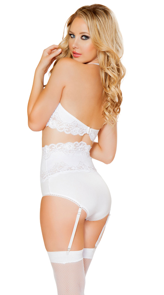 Lacy Bra and Waist Cincher Set