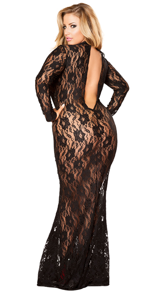 Plus Size Draped in Lace Dress