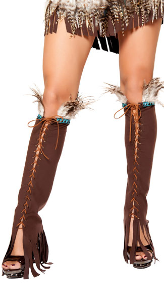 Lace-Up Suede Leg Warmers, Lace-Up Legwarmers, Suede Legwarmers