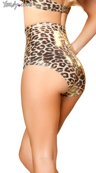 Golden Leopard High Waisted Shorts