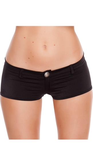 Low Rise Shorts with Button Front, Low Rise Shorts, Spandex Shorts