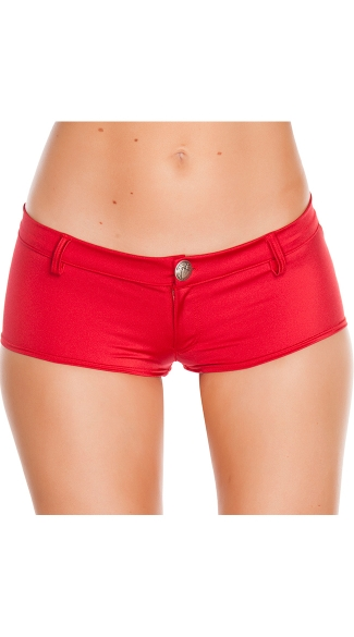 Low Rise Shorts with Button Front