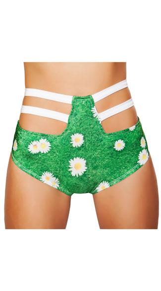 Waisted Strappy Daisy Shorts, High Waisted Daisy Shorts, Strappy ...