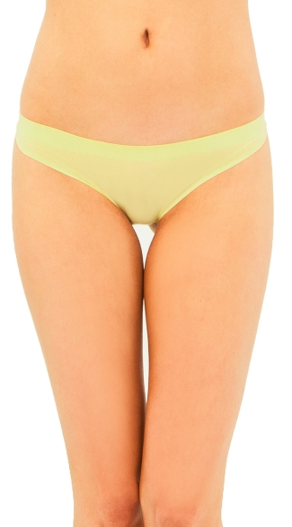 Give Me Lemons Thong, Yellow Colored Thong, Thong Underwear for Women
