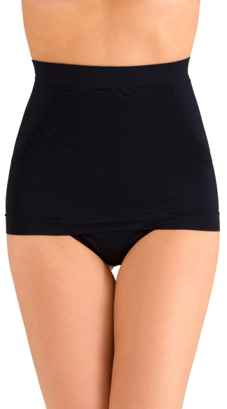 High Waisted Shapewear Thong, Black High Waisted Panty