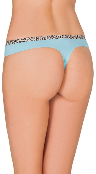 Blue Smooth Operator Thong
