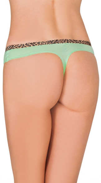Green Smooth Operator Thong