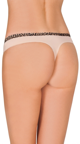 Peach Smooth Operator Thong